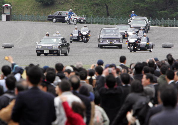 Motorcade of Japanese Princess Sayako le